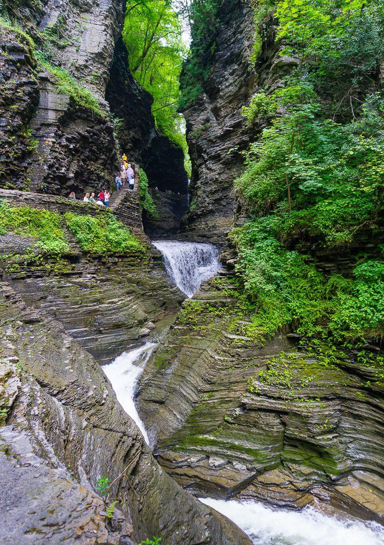 Watkins Glen State Park waterfalls and ravines