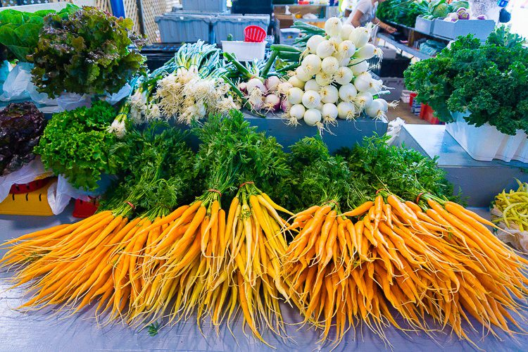 I love the dainty ends of fresh carrot bunches.
