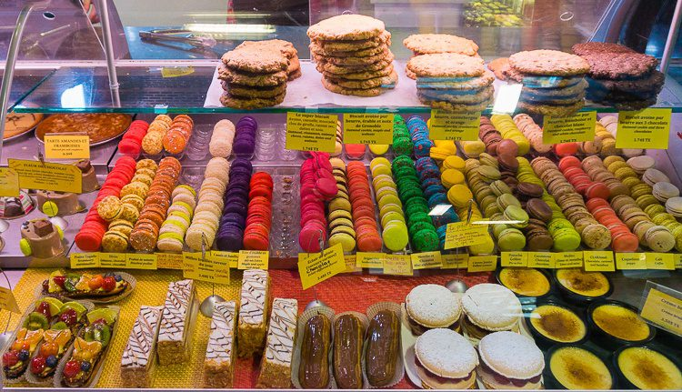 Colorful cookies. So many desserts at the market!