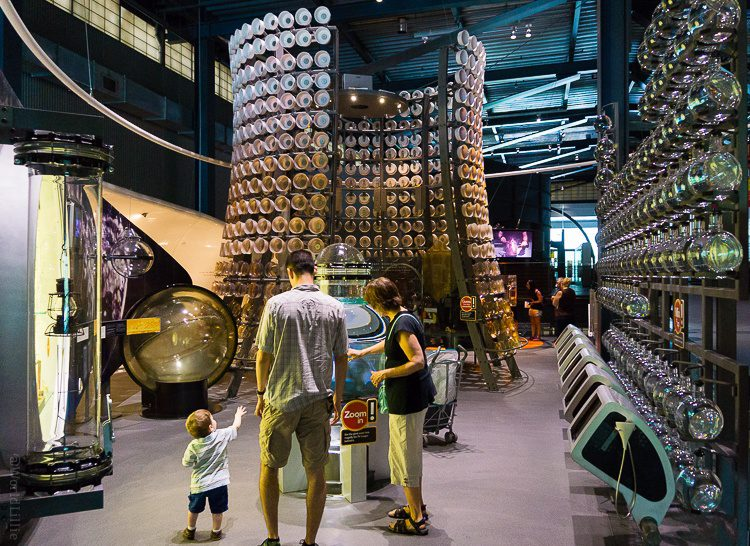 Corning glass museum kids' play and learning area.
