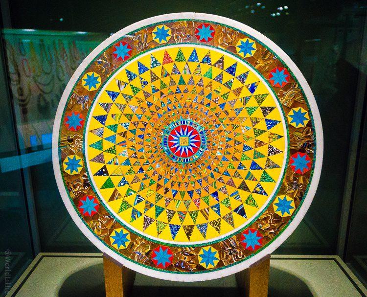 Corning museum of glass sunburst table