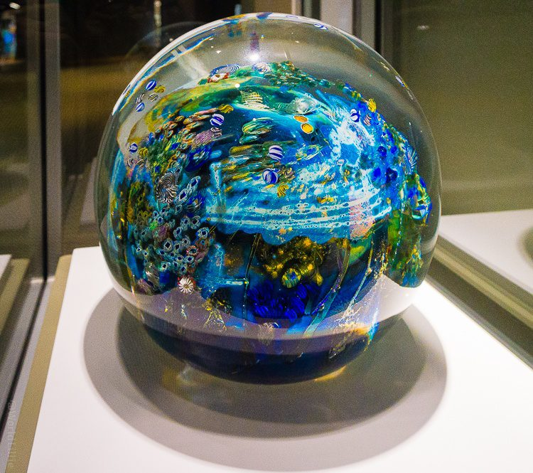 Corning glass museum: The world's largest traditionally made glass paperweight.