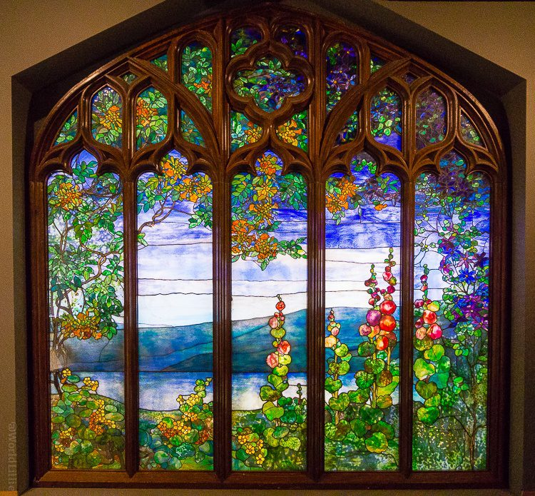 Tiffany window stained glass corning museum of glass art