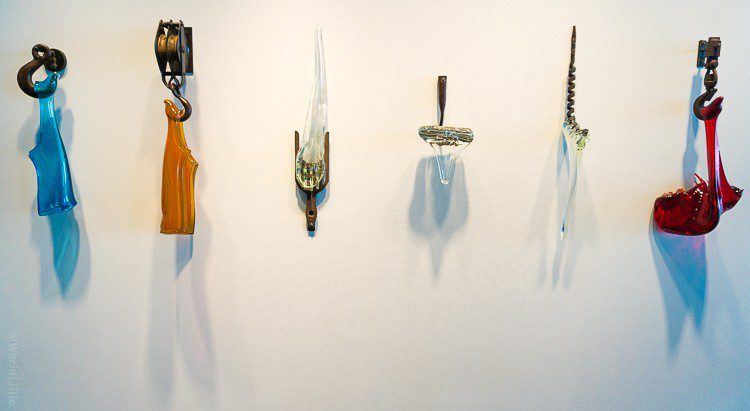 Dripping glass knives.