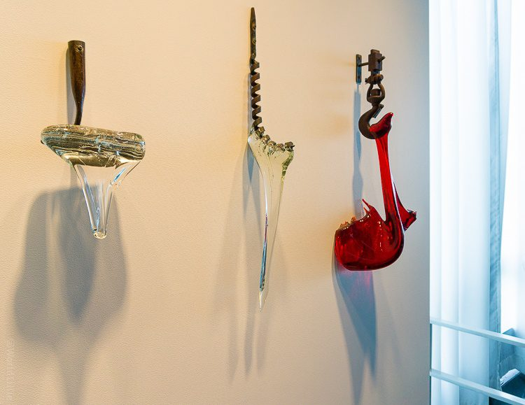 Corning museum of glass: Dripping glass art