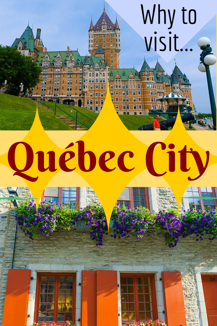 Old Quebec is a great vacation idea. So many things to do in Quebec City! Learn about Chateau Frontenac, food, flowers, and fun in this city in Canada. #QuebecCity #Quebec #travel #familytravel #vacationideas #vacation