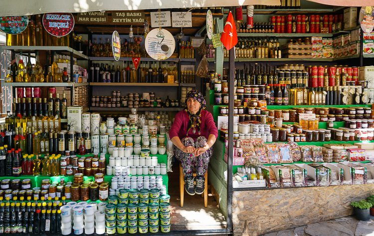 The vendors in the Sirince market exude timelessness.