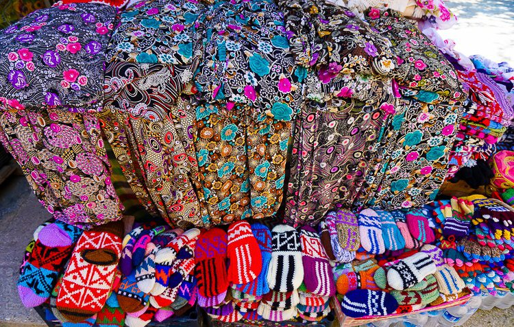 Patterned textiles and mittens. What more could you want on a summer day?