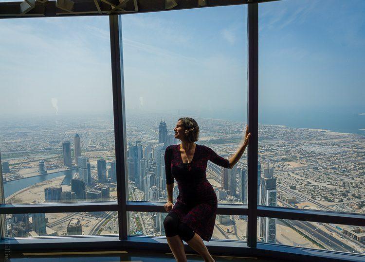 Me atop the tallest building in the world: The Burj Khalifa in Dubai!