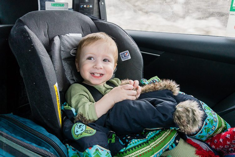 Happy traveling toddler!