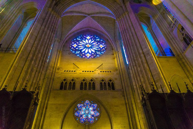 Rose window: Stained glass beauty in St. John the Divine in NYC.