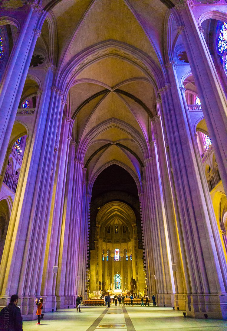 One of the largest churches in the world: St. John the Divine cathedral in NYC.