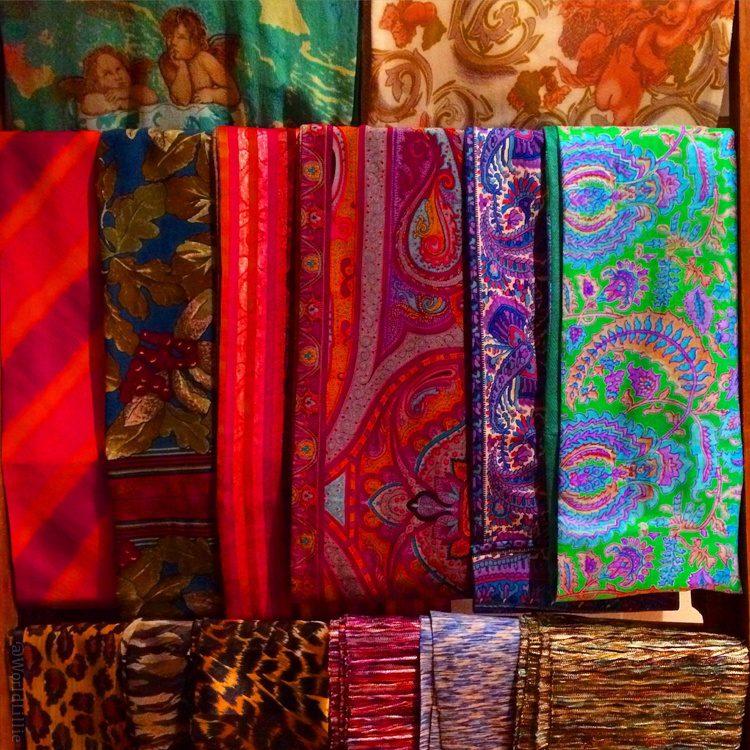 Tantalizing scarves in New York City.