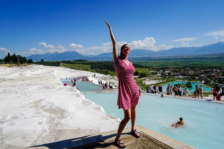 Me at the top of Pamukkale's mountain.