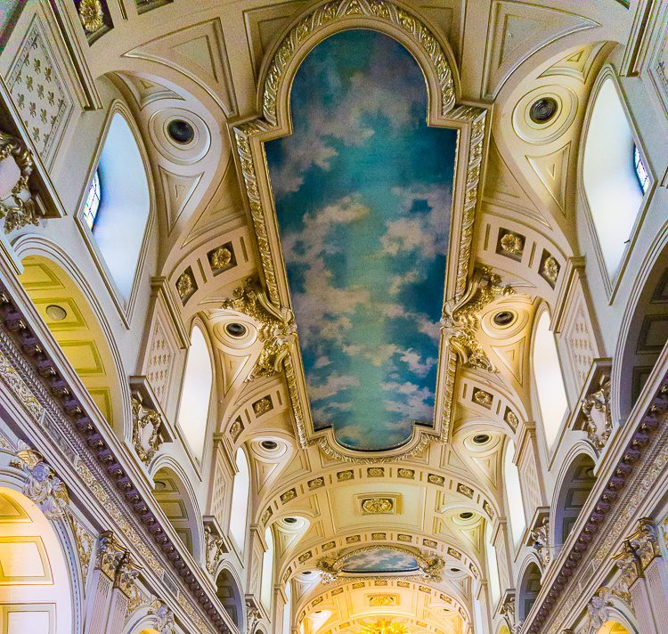 The stunning ceiling of Quebec's Notre-Dame Church!