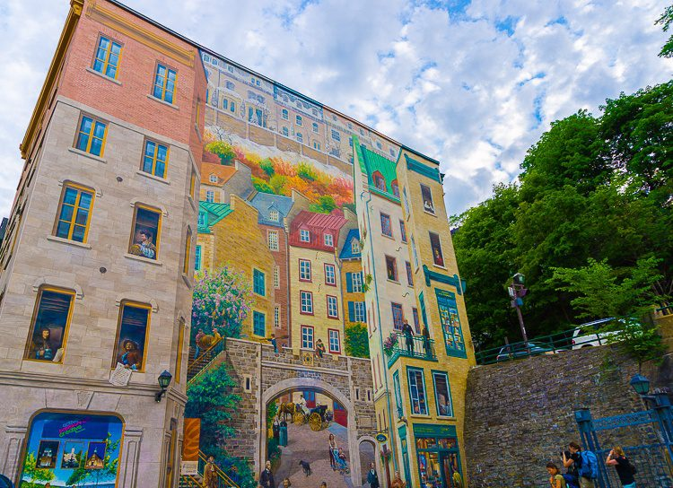 Awesome public art and murals abound in Quebec City.