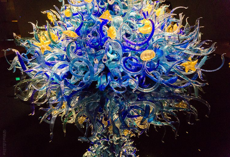 Chihuly glass sculpture in the Seattle exhibit