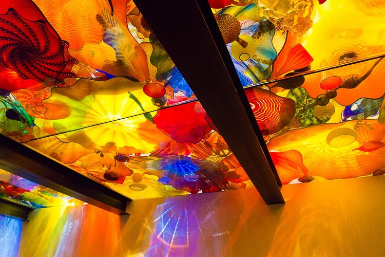 Chihuly museum, Seattle: Rainbow ceiling