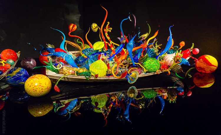 Chihuly glass museum exhibit: boat