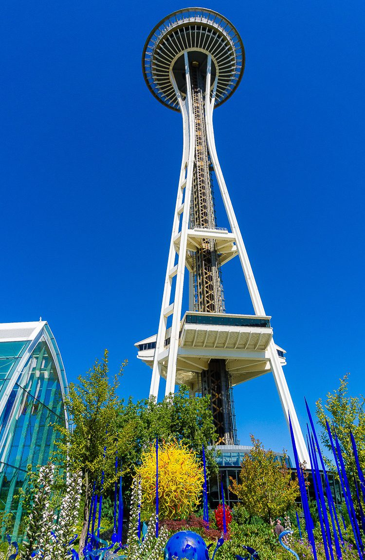 Space Needle and famous yellow sun tree.