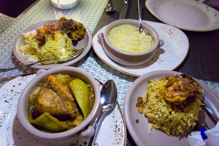 Hearty Emirati stews and rice.