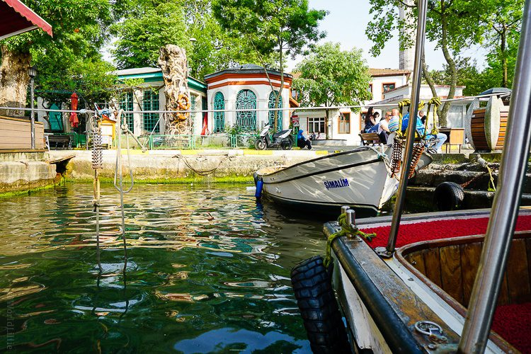 This tranquil harbor on the Asian side of Istanbul evokes the warmth of Turkish tea.