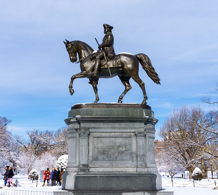 George Washington on Horseback in the Boston Public Garden.