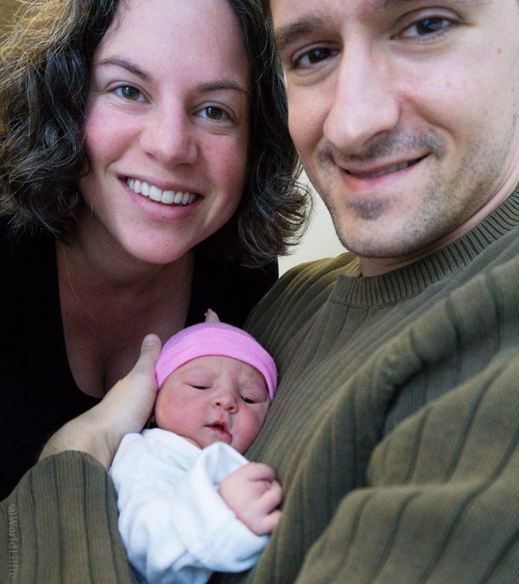Baby's first selfie! Hehe.