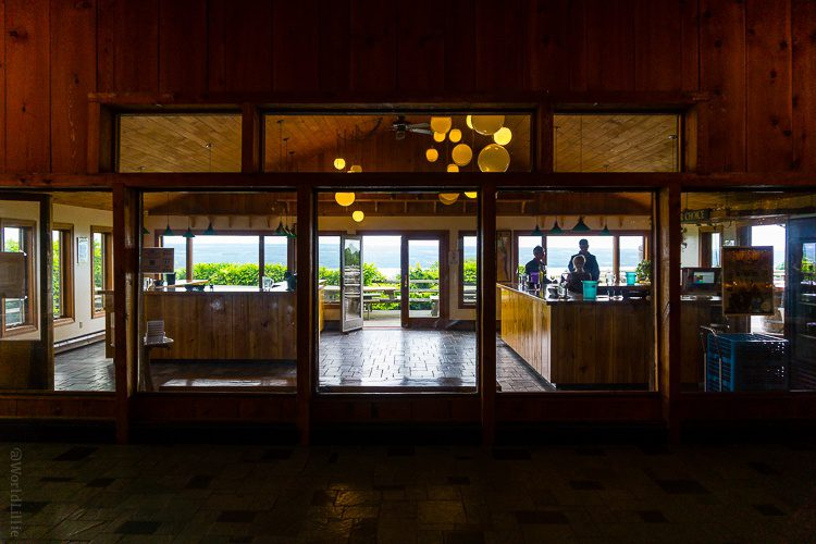 Tasting rooms inside Wagner Vineyards.