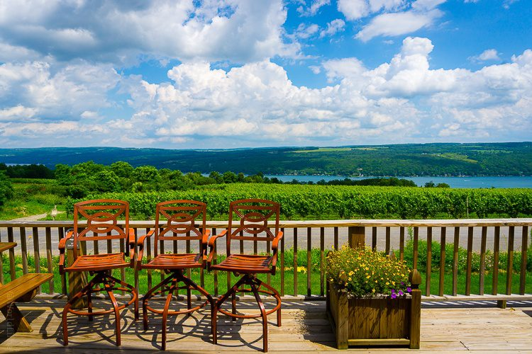 A heavenly porch view from Dr. Frank's Vineyard.