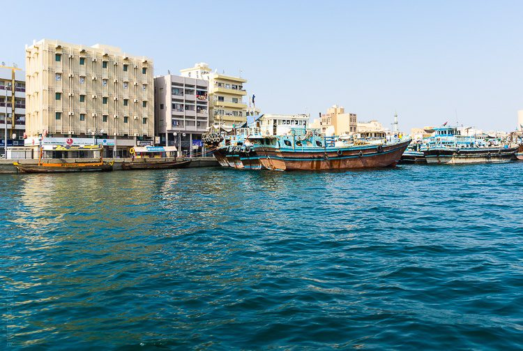 I crossed the Dubai Creek in a boat to get to the souks.