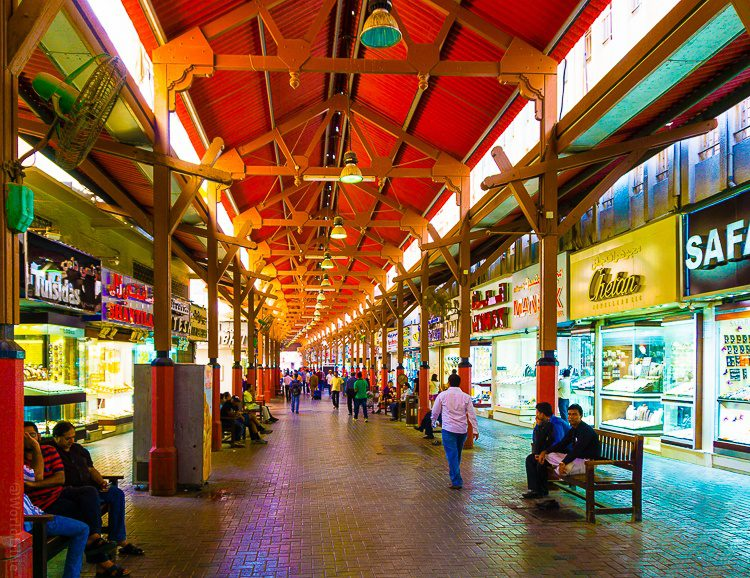 Covered stalls in the Gold Souk.
