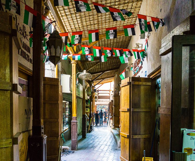 One of the narrow walkways of the souks.