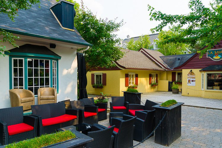 Mont Tremblant has a cozy village feel with outdoor dining in summer.