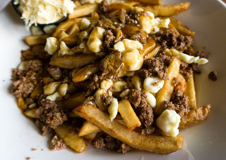 Quebec's famous poutine... with ground beef added in!