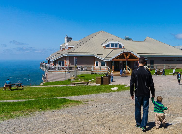 At the top of the mountain, this building has a great place to eat and hang out.