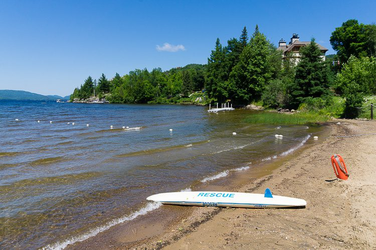 Mont Tremblant has a large lake for swimming and water sports.