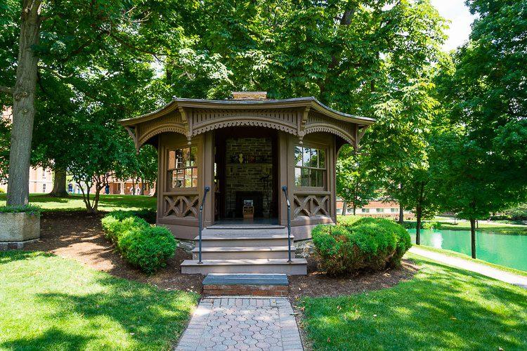 Mark Twain's writing hut!