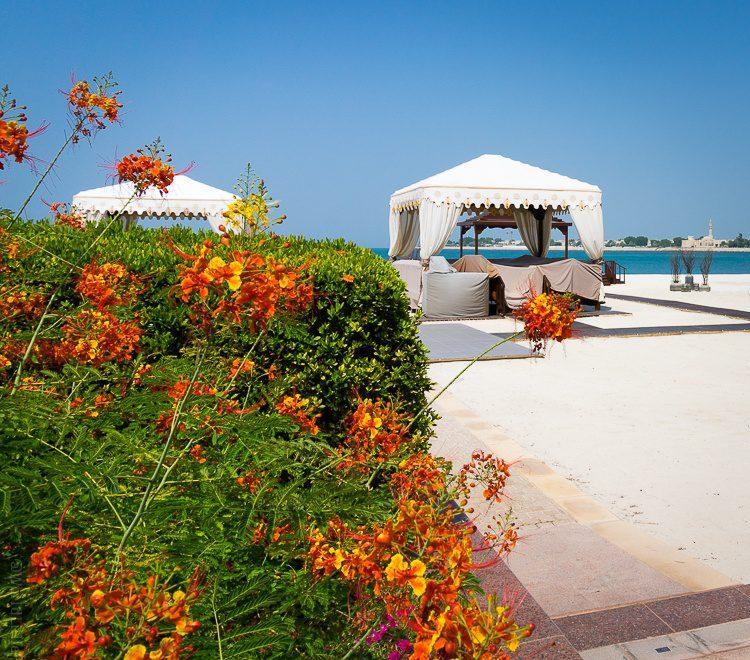 Emirates Palace Abu Dhabi beach cabanas