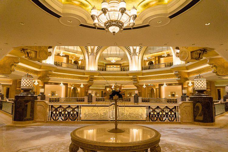 Gold lobby Emirates Palace Abu Dhabi