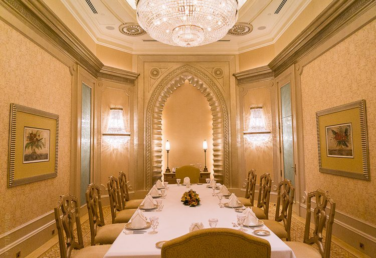 Emirates Palace Abu Dhabi Palace Suite dining room: Gold plated!