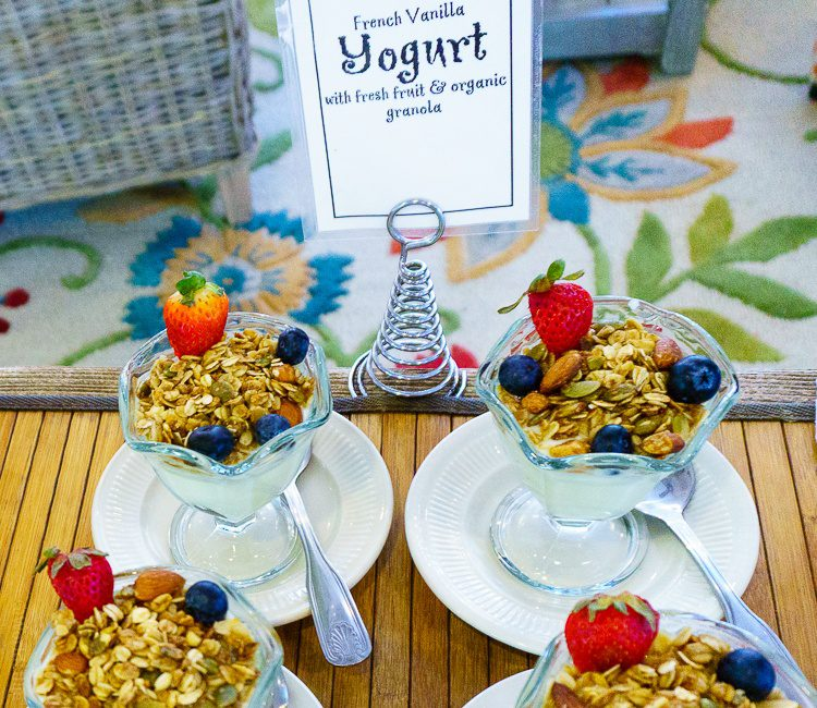 Yogurt parfaits!