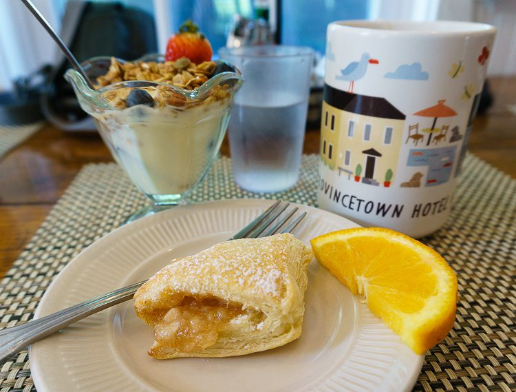 Fresh apple tart and yogurt parfait: Bed and Breakfast perfection!