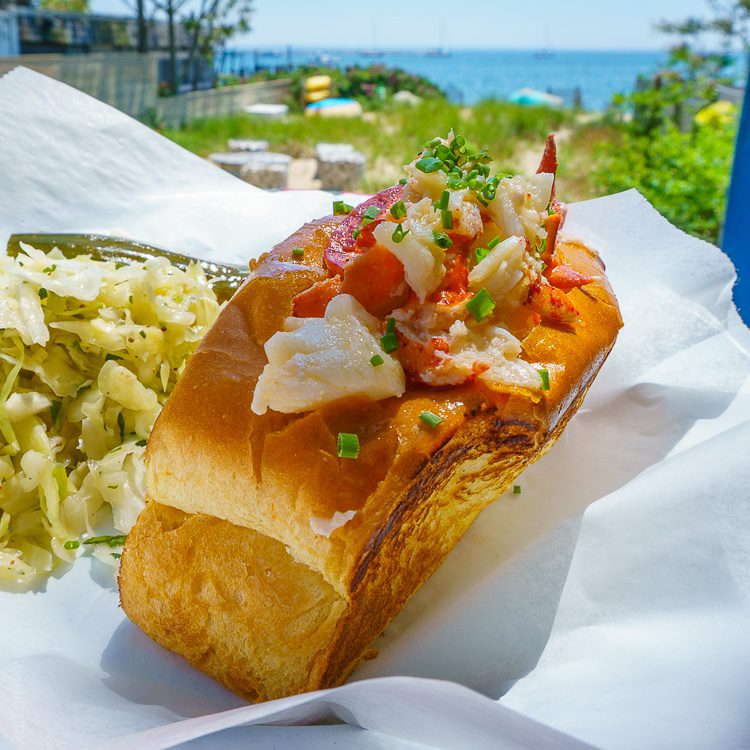 Lobster roll with an ocean view? Yes please!