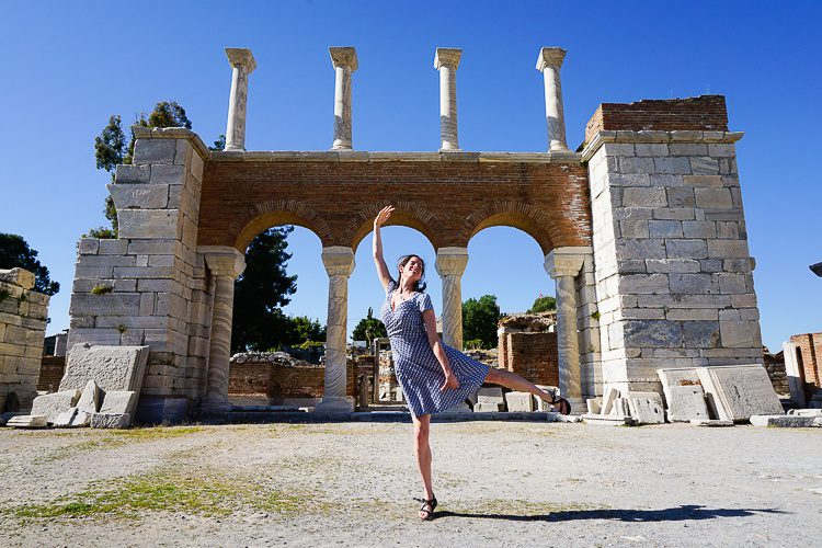 These shoes are great for dancing, too, as shown in these ancient ruins in Turkey.