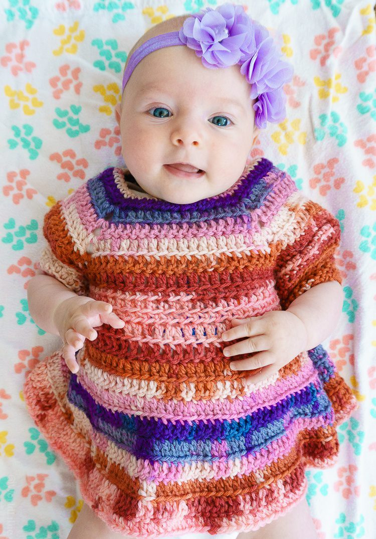 Thank you for crocheting this pretty dress, Daddy!