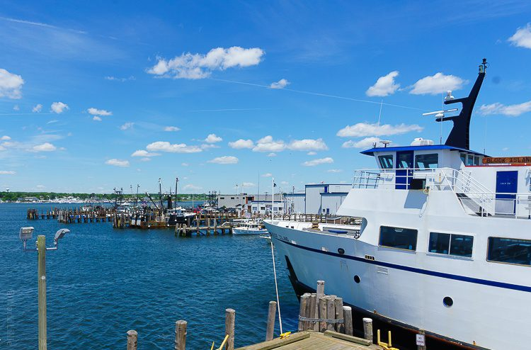Boarding the Block Island ferry for our adventure.