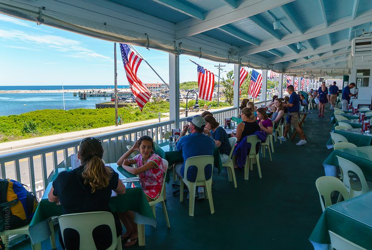 The National Hotel's breezy oceanfront patio.