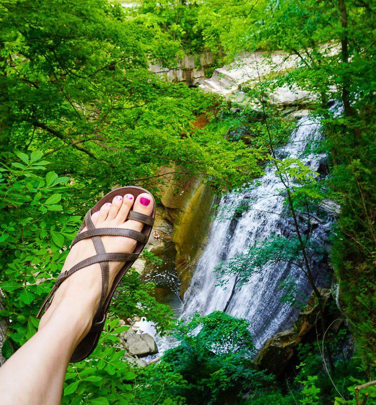 The Dorra leather Chaco sandal at Cuyahoga National Park, Ohio.