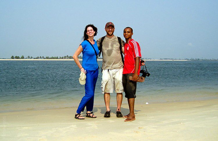 On a hike in Ghana, West Africa along the Volta River.